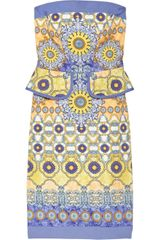 Philosophy di Alberta Ferretti Printed Cotton blend Peplum Dress - Lyst