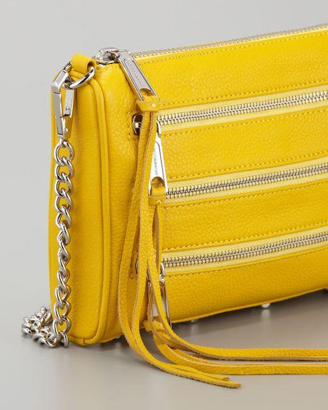 Rebecca Minkoff Mini 5zip Crossbody Bag in Yellow (sunny