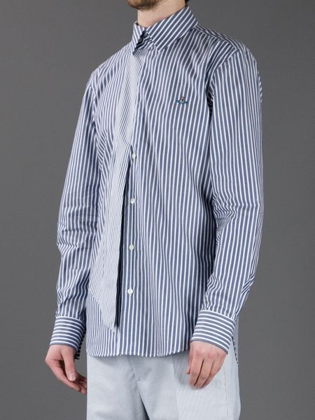 Vivienne Westwood Striped Long Sleeve Shirt In Blue For