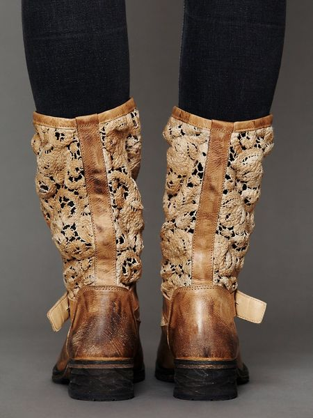 Free People Crochet Beau Boot In Brown Tan Lyst