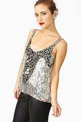 Nasty Gal Disco Dance Sequin Tank - Lyst