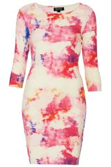 Topshop Paintbomb Bodycon Dress - Lyst