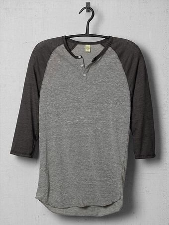 Alternative Three quarter Sleeve Raglan Henley - Lyst