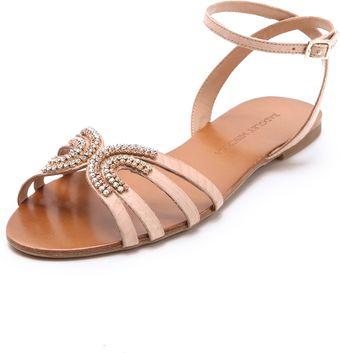 Badgley Mischka Courtney Jeweled Sandals - Lyst