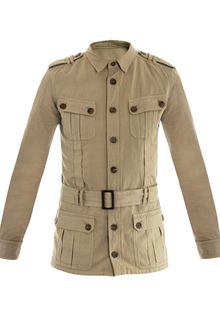 Balmain Military Cotton linen Jacket - Lyst
