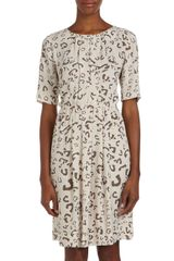 BCBGMAXAZRIA Leopardprint Dolmansleeve Dress - Lyst