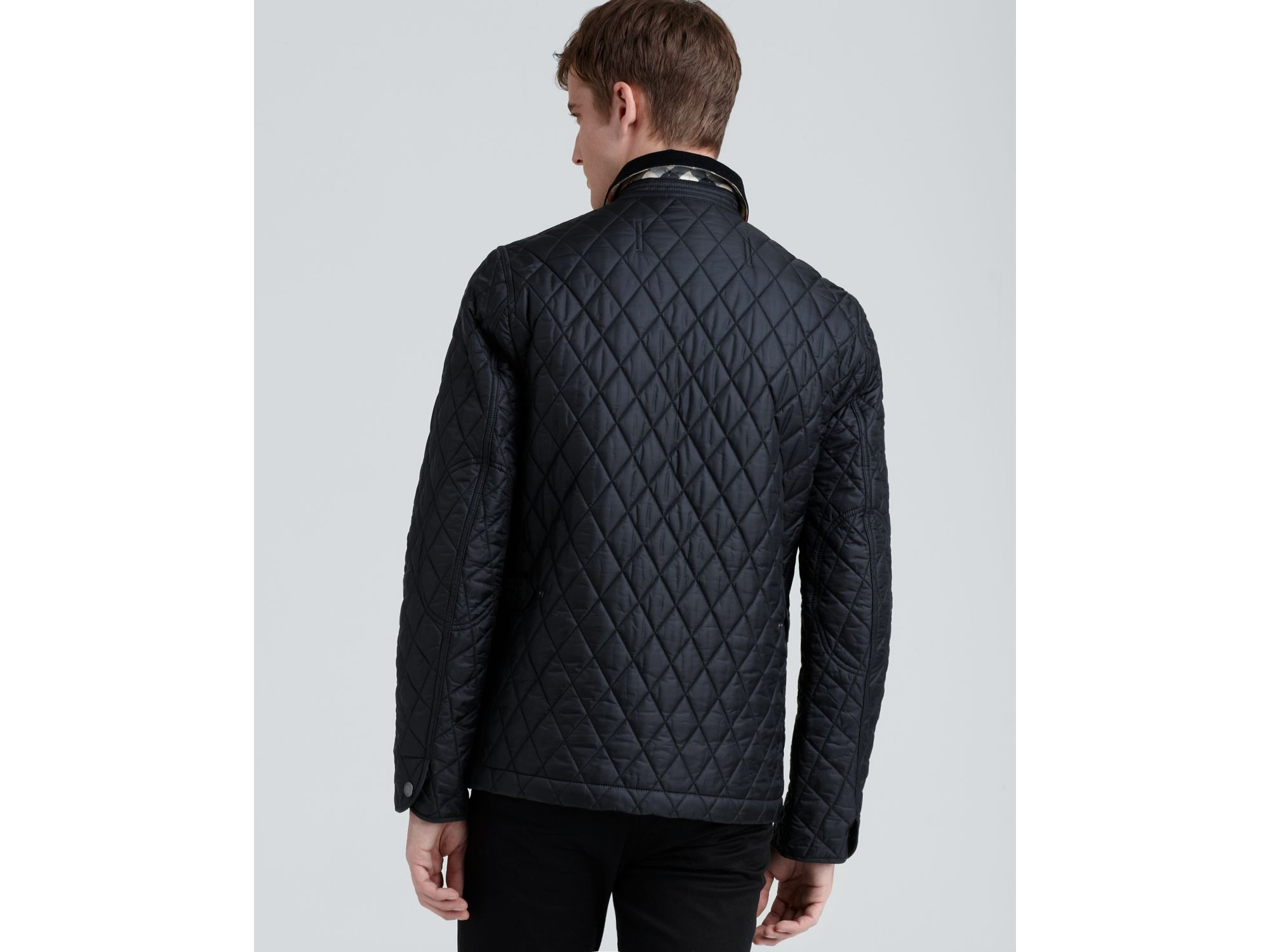 Burberry Brit Roden Quilted Barn Jacket In Black For Men