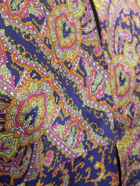 Carven Paisley Collared Silk Dress in Multicolor