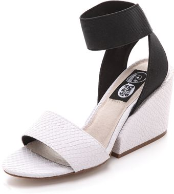 Cheap Monday Stomp Embossed Sandals - Lyst