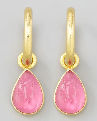 Elizabeth Locke Teardrop Earring Pendants - Lyst
