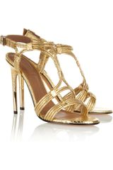 Givenchy Metallic Python Sandals - Lyst