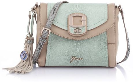 Guess Azadeh Crossbody Flap in Blue (multi nature colours) - Lyst