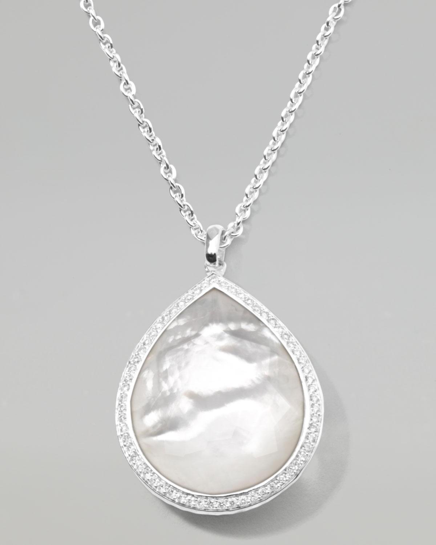 Ippolita Stella Large Teardrop Pendant Necklace In Mother