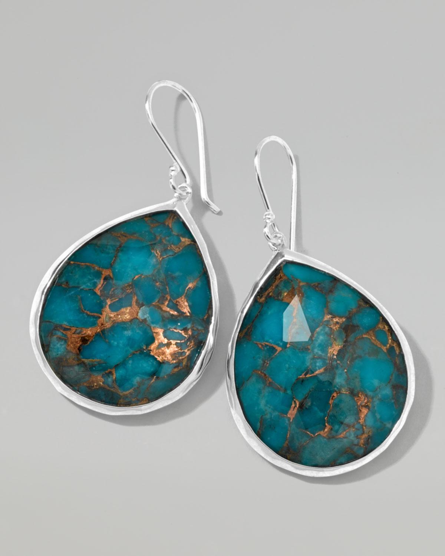 Ippolita Wonderland Turquoise Teardrop Earrings In Green