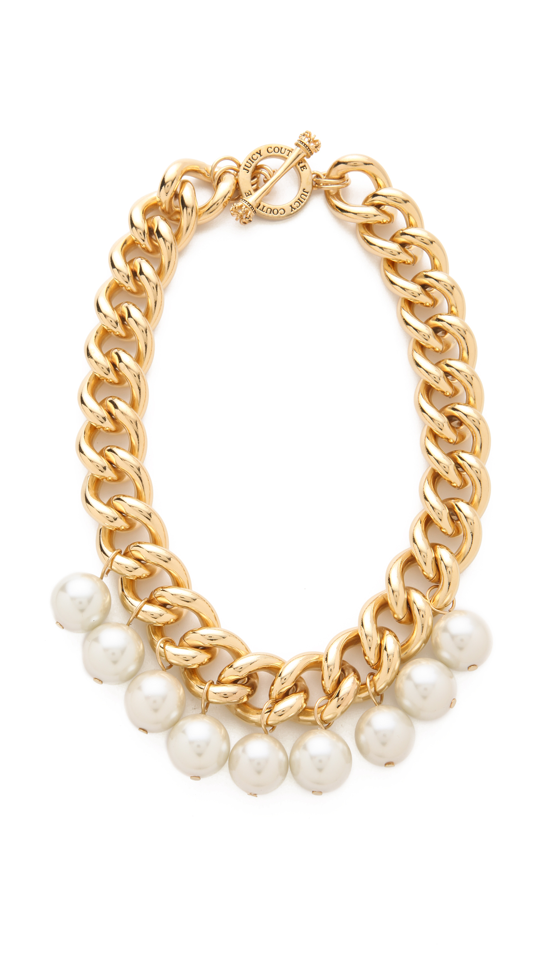 Juicy couture chunky chain necklace in metallic lyst for Juicy couture jewelry necklace