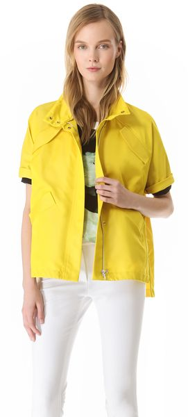 Lela Rose Short Sleeve Sport Jacket - Lyst