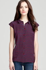 Marc By Marc Jacobs Top Izzy Dot Print - Lyst