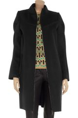 Marni Wool Coat in Blue (midnight) - Lyst