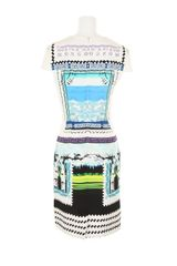Mary Katrantzou Silk Dress with A Stamp and Banknotes Kaleidoscopic Print in Multicolor (lavender) - Lyst