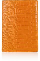 Smythson Croceffect Leather Passport Cover - Lyst