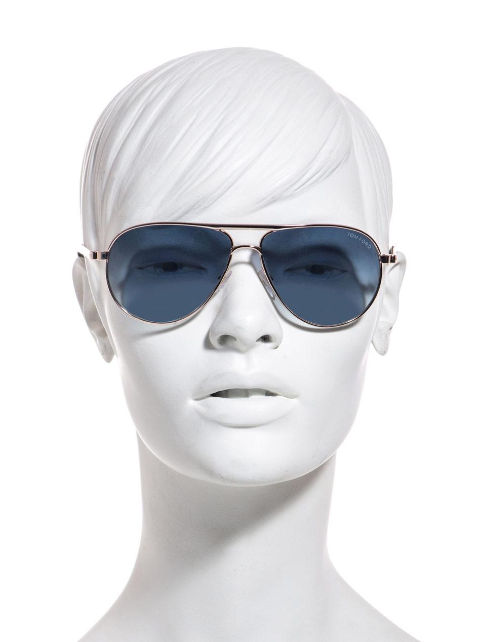 a750210b68 Lyst - Tom Ford Marko Aviator Sunglasses in Blue