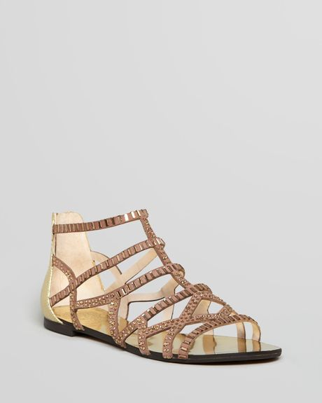 Vince Camuto Sandals Emera Rhine Gladiator In Beige