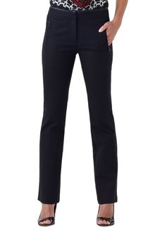 Adrianna Papell Zip Pocket Leather Trim Pant - Lyst