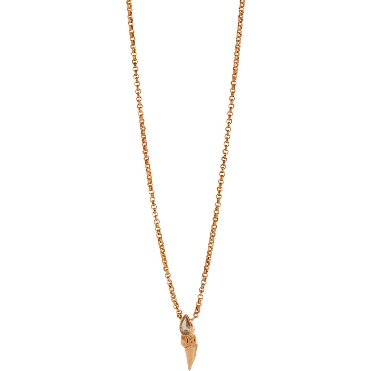 dezso by beltran shark tooth pendant