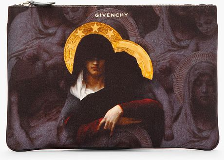 Givenchy Purple Printed Madonna Zip Pouch in Purple for Men - Lyst