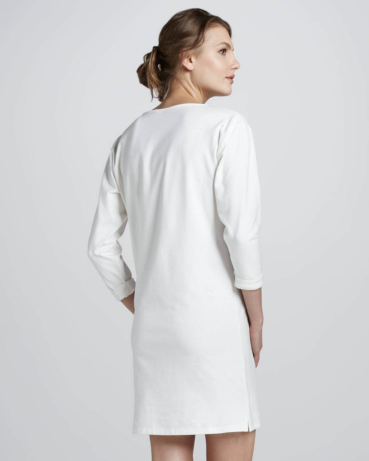 860a714f22 Theory Ode Crepe Shift Dress in White - Lyst