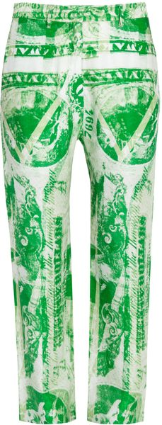 Acne Silk Dollar Print Wide Leg Pants - Lyst