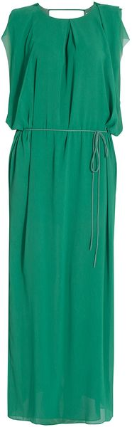 Acne Tie Back Maxi Dress - Lyst