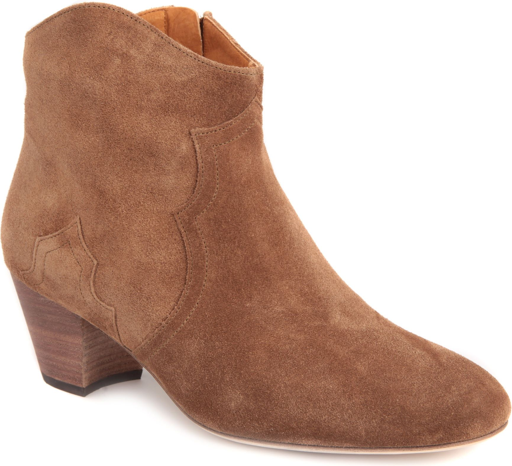marant dicker suede ankle boots in brown lyst