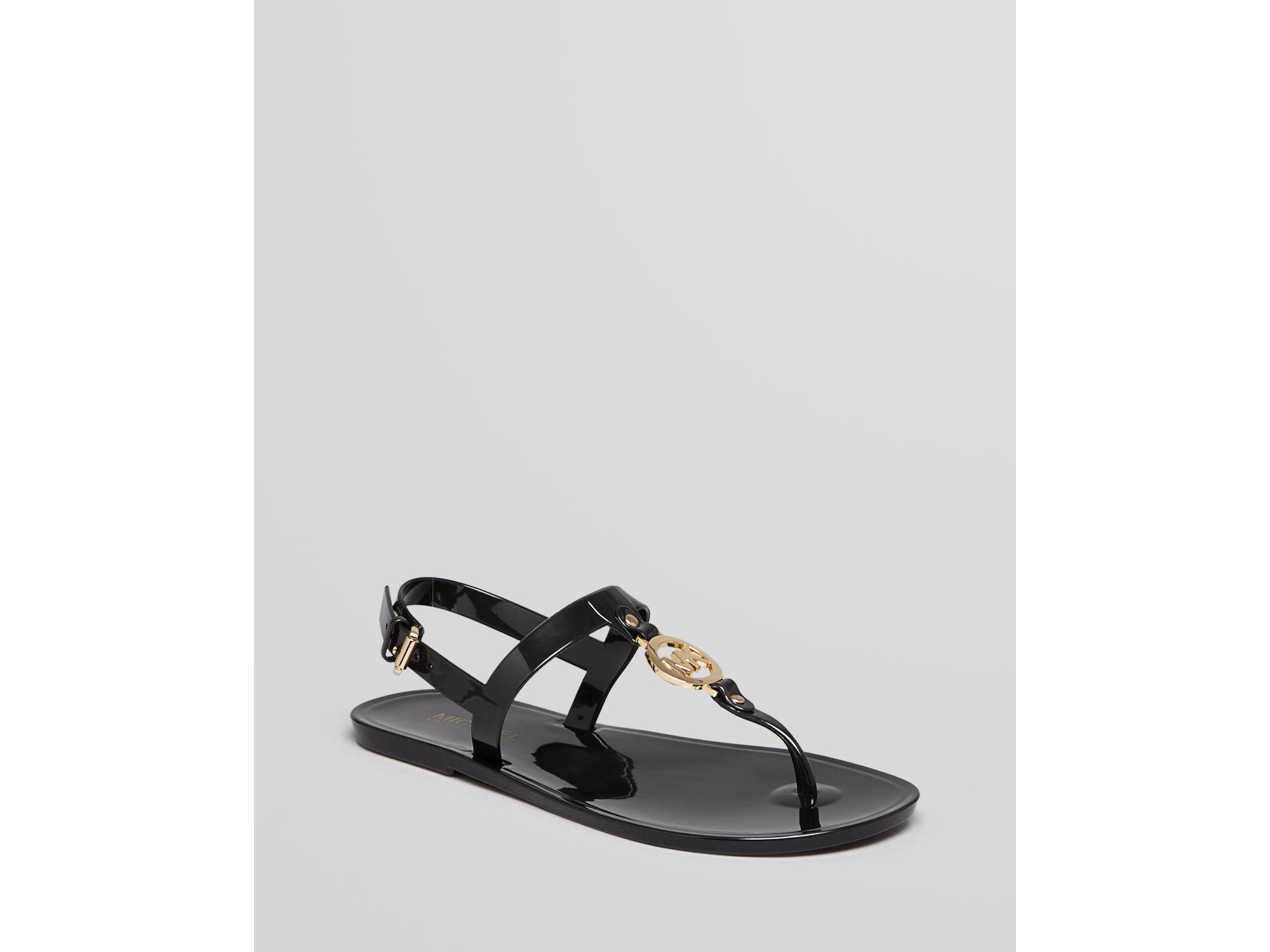 aee8a6801da619 Lyst - MICHAEL Michael Kors Jelly Flat Thong Sandals Mk Sondra in Black