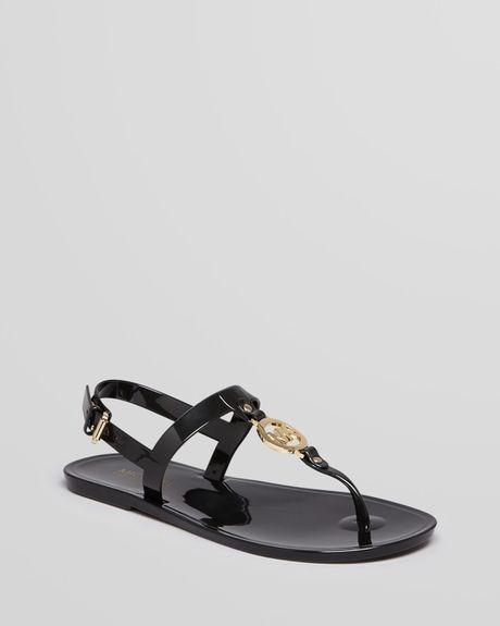 Michael Michael Kors Jelly Flat Thong Sandals Mk Sondra In
