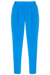 Tibi Silk Pleated Pants