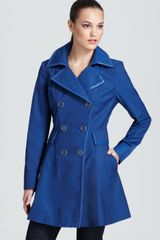 Via Spiga Double Breasted Skirted Trench with Piping - Lyst