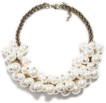 Zara Maxi Pearl Necklace - Lyst