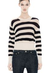 Acne Lia Stripe Navy White - Lyst