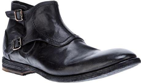 Alexander Mcqueen Buckled Boot in Black for Men
