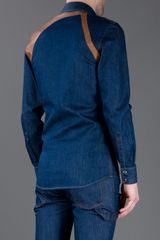 Alexander Mcqueen Buckle Detail Shirt in Blue for Men - Lyst