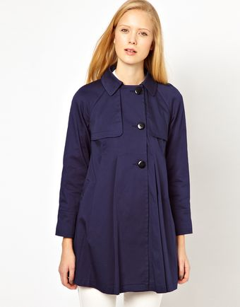 ASOS Collection Asos Pleat Swing Mac - Lyst