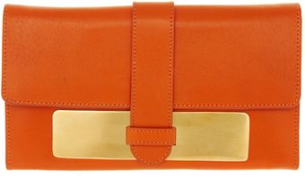 Asos Leather Metal Plate Purse - Lyst