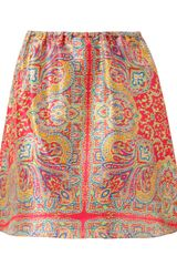 Carven Paisley Printed Silk Skirt - Lyst
