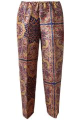 Carven Paisley Silk Trousers - Lyst