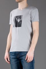 Dolce & Gabbana Photo Print Tshirt in Gray for Men (grey) - Lyst