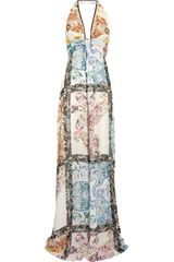Etro Paisley-Print Silk Maxi Dress - Lyst