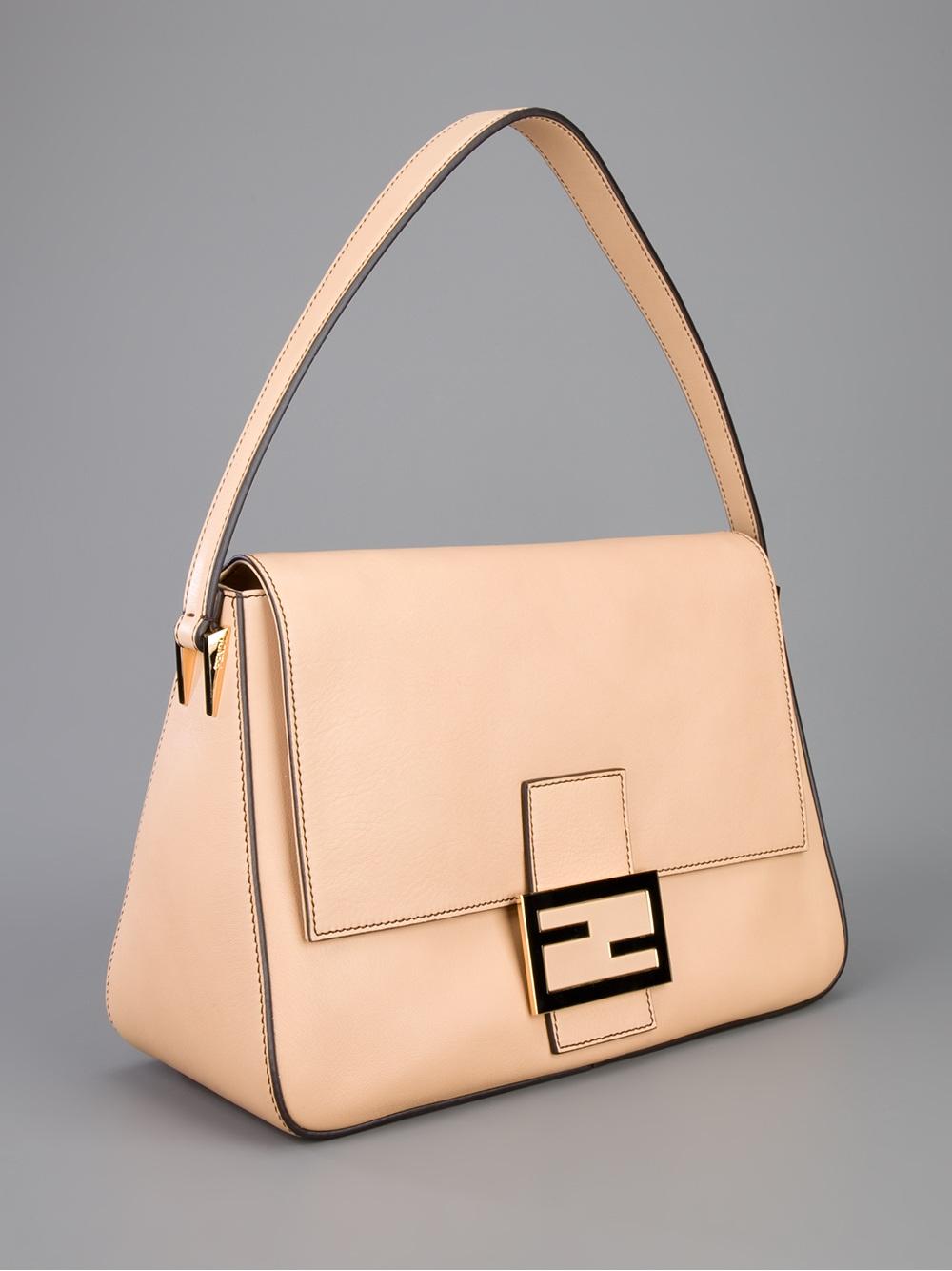 73c238937795 Lyst - Fendi Big Mamma Shoulder Bag in Natural