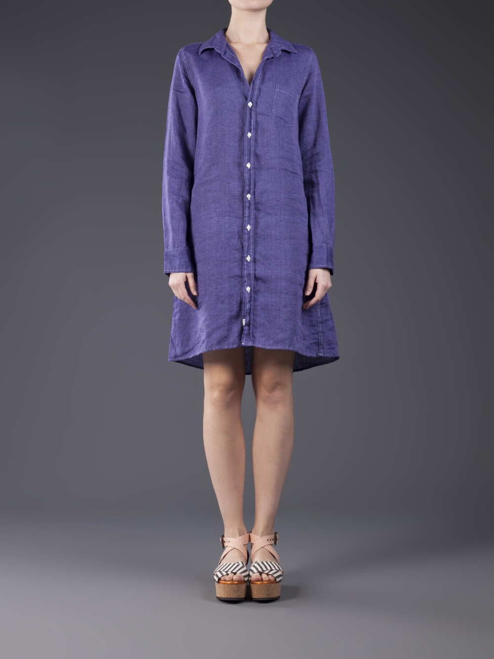 Lyst Frank Amp Eileen Murphy Shirtdress In Purple