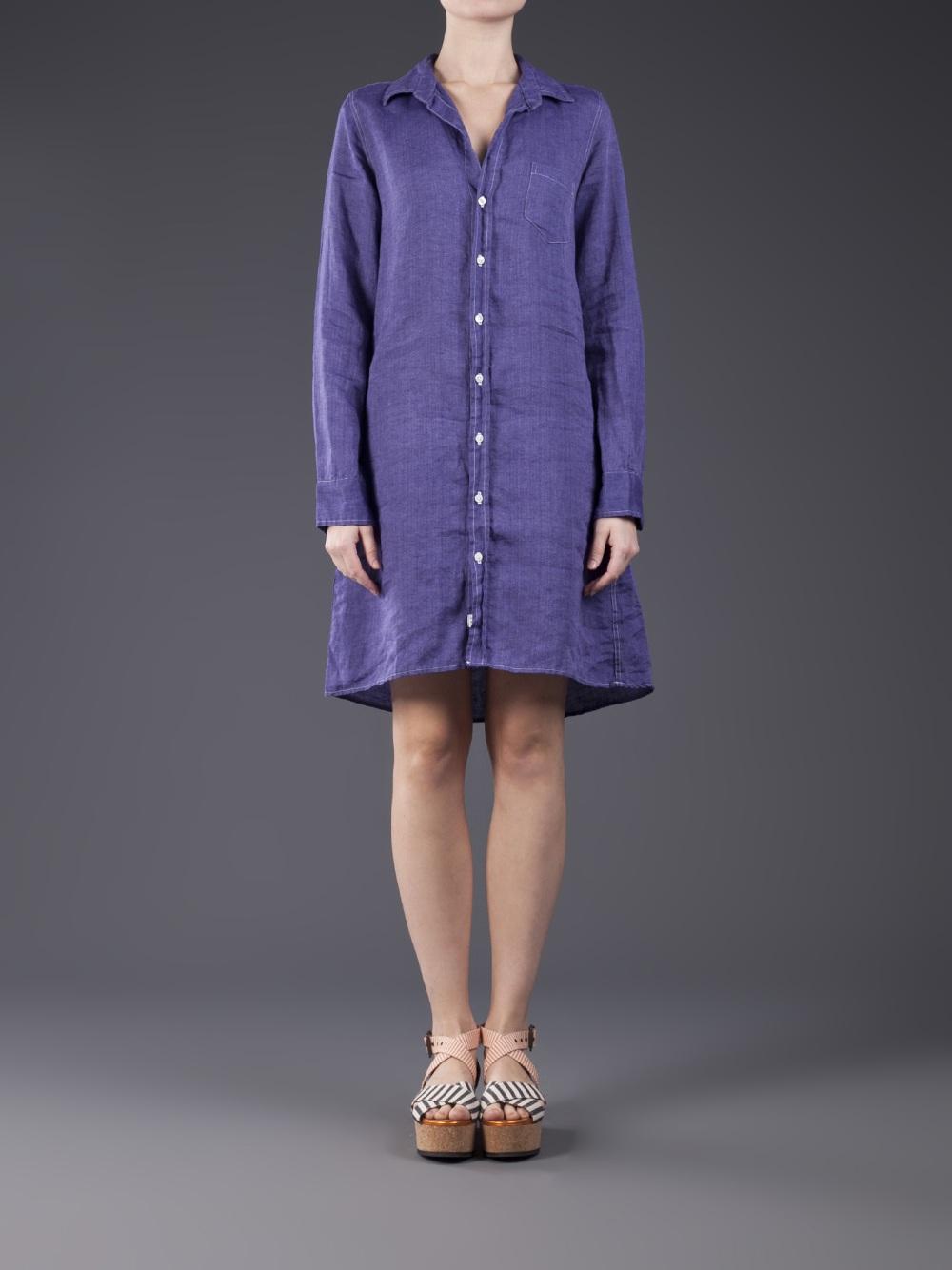 Lyst Frank Eileen Murphy Shirtdress In Purple